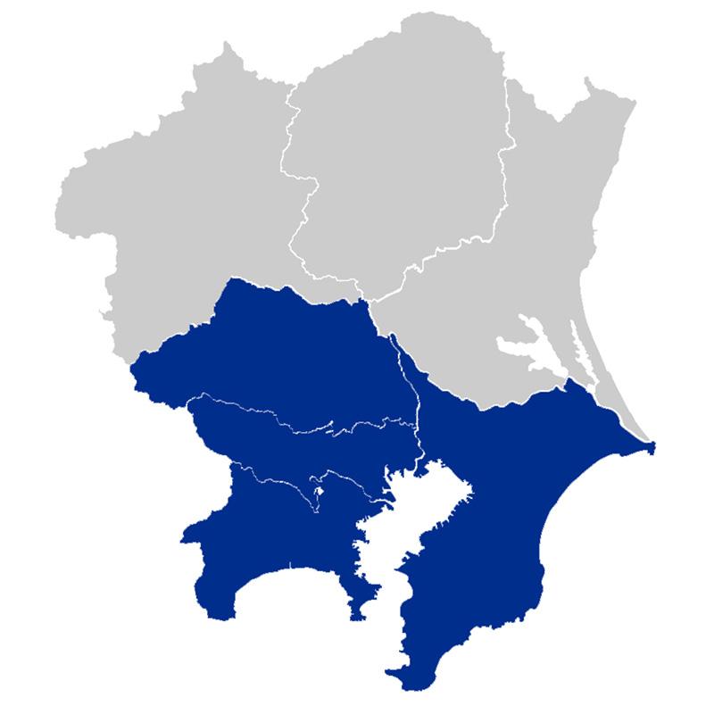 サービス対応エリアマップ|東京都、神奈川県、埼玉県、千葉県