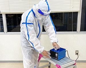 2. オゾン燻蒸作業